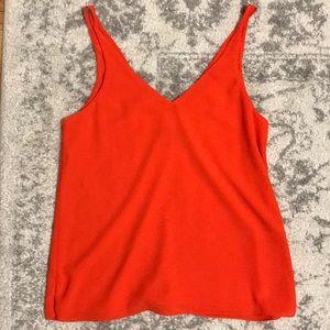 Topshop v-back camisole